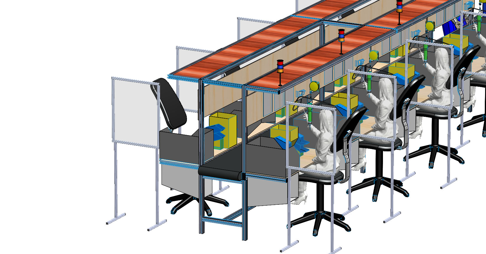 Assembly Workstation Partitions